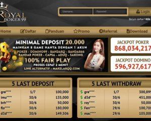 Daftar RoyalPoker99 - Situs Judi Poker Terpercaya